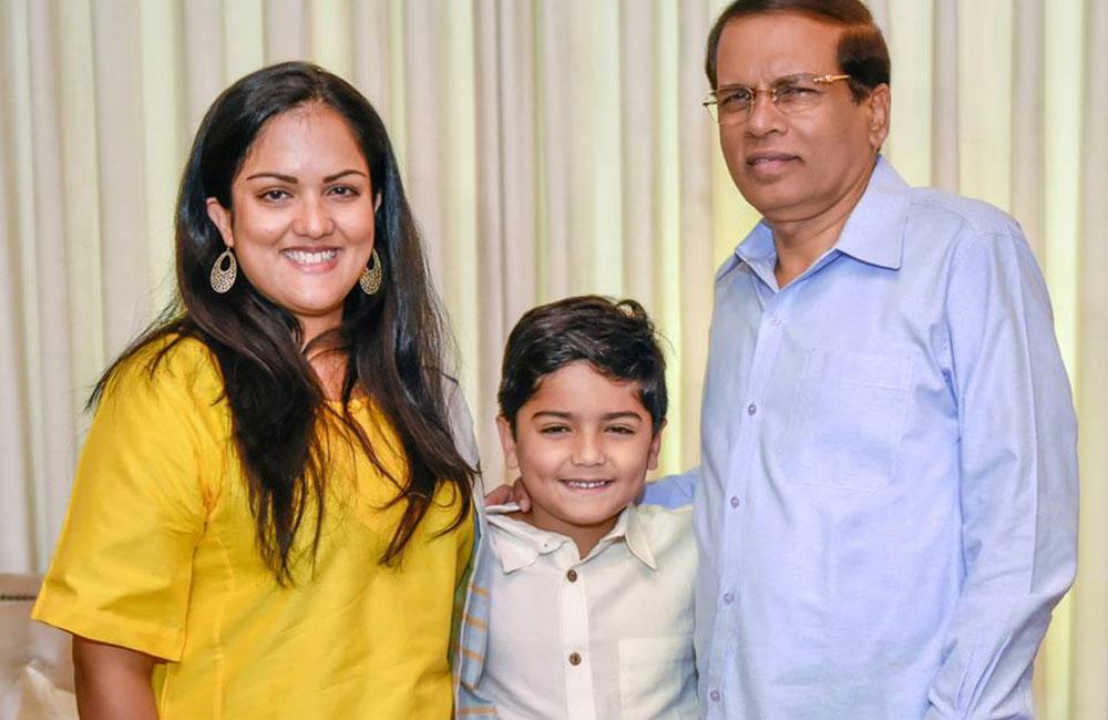Athulathmudali daughter meets President