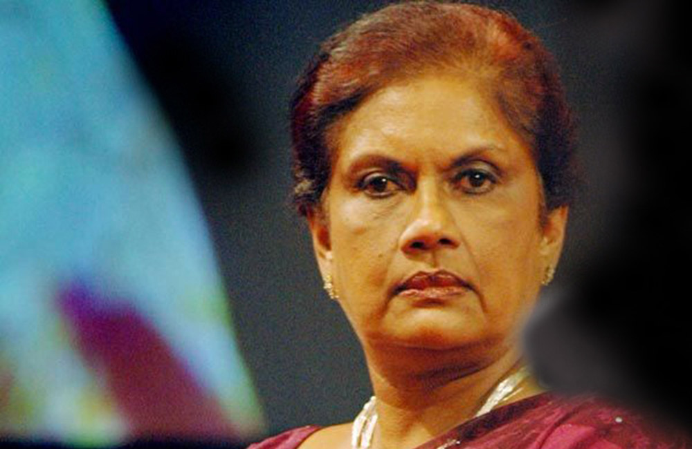 Chandrika removed as SLFP organiser for Attanagalla electorate