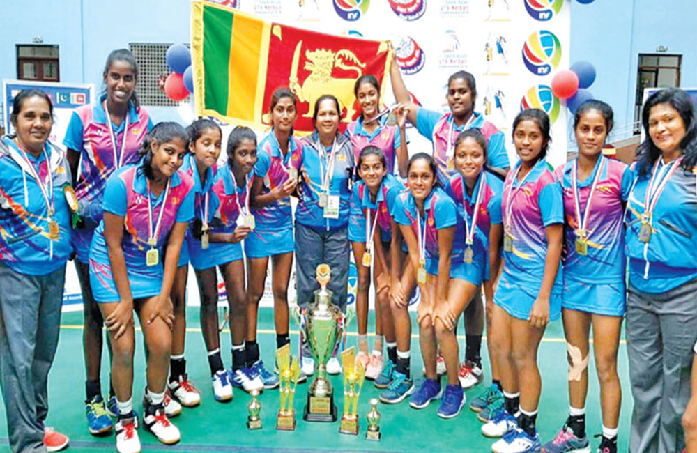 Sri Lankan netballers crowned as South Asian champs