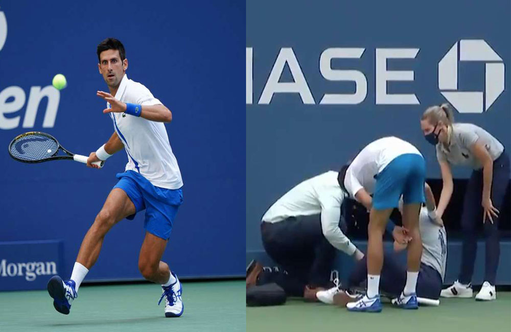 World No.1 Novak Djokovic defaulted from US Open for hitting lineswoman in throat