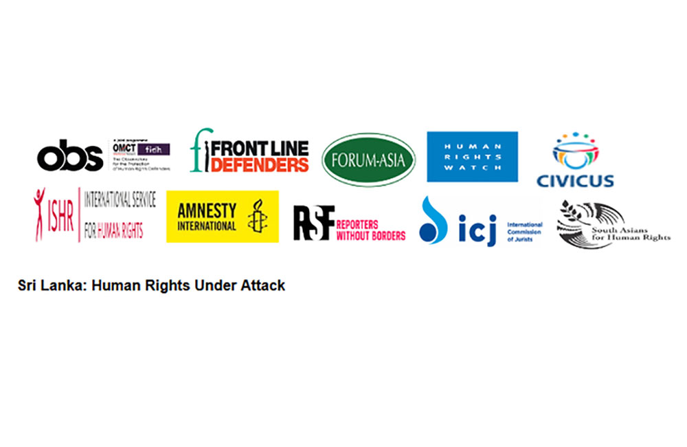 10 international organisations urge Govt. to end targeted crackdown on human rights defenders