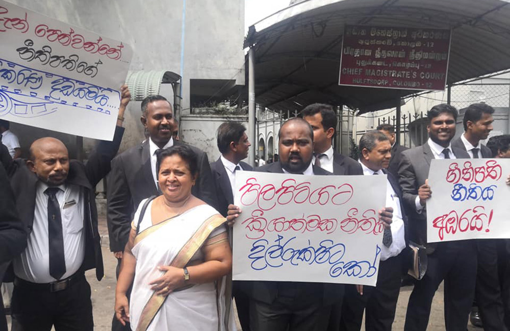 Lawyers protest against Attorney General